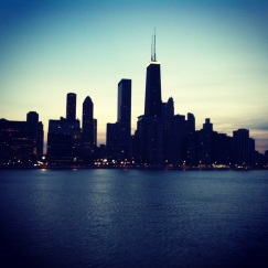 One of the most beautiful things about running along Chicago's lakeshore paths