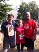 my BIL, me and my dad after our FIRST half marathon