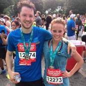 my BIL & i after our second half-marathon
